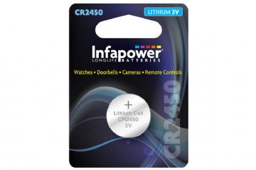 Infapower CR2450 Lithium Coin Cell Battery 3V